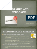 Mistakes and Feedback