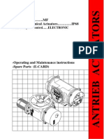 IP68 Actuator With CC Spares Catalogue