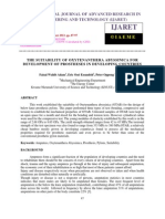 The Suitability of Oxytenanthera Abyssinica for Development of Prostheses in De
