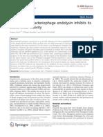 PEGylating a Bacteriophage Endolysin Inhibits Its Bactericidal Activity