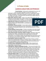 In Praise of India
