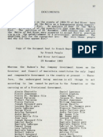 Letter to French Representatives of Riel's Provisional Government
