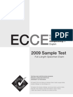 Ecce 2009 Sample Test