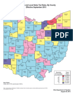Sales tax rates by county in Ohio