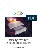 Tema de Estudio 2010-2011 - La Reunión De Equipo
