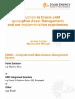 Jeremy Carson NZ Oracle User Group Presentation - An overview of Enterprise Asset Management.ppt