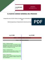 Codigo General Del Proceso - Comparativo Leyes 15982 y 19090