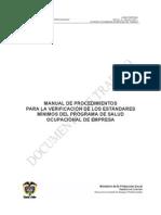 EStandares Minimos Del Programa de Salud Ocupcional en La Empresa(1)