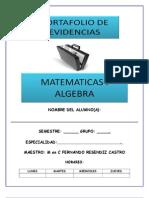 Portafolio de Evidencias Algebra