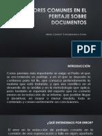 Errores Comunes en El Peritaje Sobre Documentos