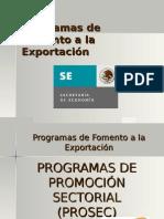 PROGRAMAS DE FOMENTO A LA EXPORTACIÓN EN MÉXICO