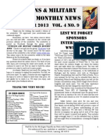 Veterans and Military Families Monthly News September 2013