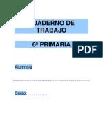 Cuaderno de Trabajo 6º de Primaria Matematicas