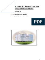 Consumer Loan with reference to Bank of India'