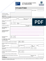 Claim Form House Owners