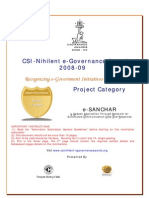E Sanchar Project Category Nomination Submission Ver1 for CSI