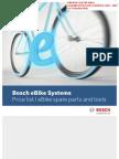Bosh Ebike Spares Parts Pricelist