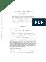 arithmetic dynamics
