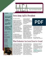AaEA Summer 2009 Newsletter