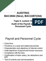 Bac2664auditing l10 1 Payroll Cycle