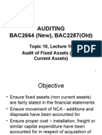 Bac2664auditing l10 2 Non Current Assets