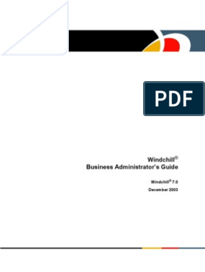 Windchill 7 0 Business Administrators Guide | Product