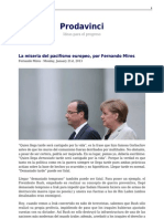 Mires, Fernando; La Miseria Del Pacifismo Europeo