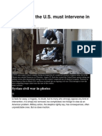5 Reasons the U.S. Must Intervene in Syria
