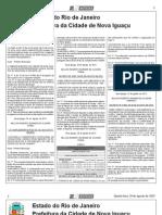 diario oficial de nova iguaçu de 29 de agosto de 2013.