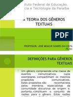 Aulas 1, 2 e 3 Generos Textuais