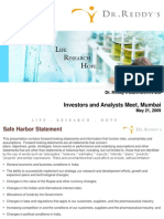 Dr. Reddy's Analyst Meet Presentation - 2009