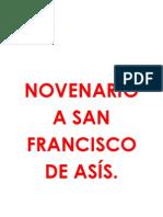 NOVENARIO A SAN FRANCISCO DE ASÍS día 1