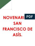 NOVENARIO A SAN FRANCISCO DE ASÍS