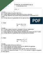 Examen Parcial Mat2 Geco 15 Abril 2013