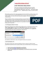 File Exe Tak Bisa Dijalankan