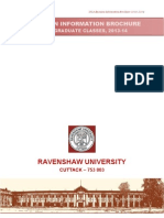 UG Admission Information Brochure 2013- R.U.