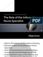 the role of the informatics nurse specialist