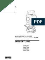 PORTADA Manual de instrucciones Estación Total TOPCON GPT 2006