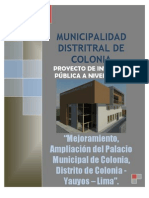 Perfil Palacio Municipal Colonia