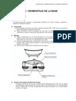 15-Montaje Desmontaje de La Base Nivelante-Manual de instrucciones Estación Total TOPCON GPT 2006
