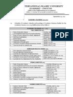 Academic Calendar 2012 13