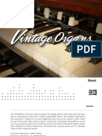 NI Kontakt Vintage Organs Manual English