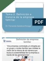 (Slide 2) Tema 2. Definición de la empresa familiar