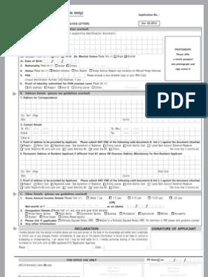 SBI KYC Application Form | Identity Document | Banks