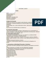 Formato de Estructuracion Del Historial Clinico