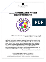 human services learning programpolk-student packet