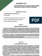 Peru-Ley 25897. Ley Que Crea El Sistema Privado de Administracion de Fondos de Pensiones