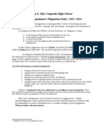 eng  dept  plagiarism policy final draft