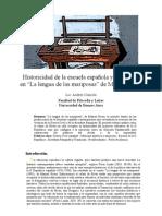 Historicidad de la escuela española y narración...