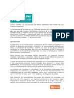 Paper CDH - Lucha contra la Utilización de Niños por parte de las Fuerzas Armadas